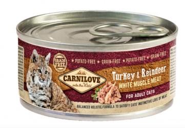 Carnilove Cat - Kalkun og Rensdyr Adult, 100 g - vådfoder