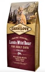 Carnilove Lamb og Wild Boar for Adult Cats - Sterilised, 6 kg - BEMÆRK INCL. GRATIS FRAGT OG OVERRASKELSE