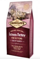 Carnilove Salmon og Turkey for Kittens - Healthy Growth, 6 kg - BEMÆRK INCL. GRATIS FRAGT OG OVERRASKELSE