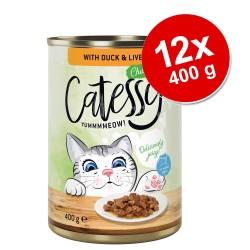 Catessy Bidder i sauce eller gelé 12 x 400 g - And & Lever i sovs