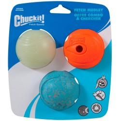 Chuckit bolde - Fetch Medley M - 3 stk.