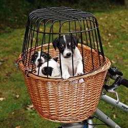 Cykelkurv til små hunde og katte i flet