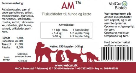 Den røde til hund og kat, HEDDER NU : AM - 150 stk. kaspler
