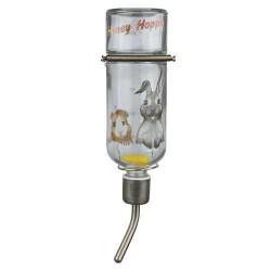 Drikkeflaske, glas med flot motiv - 250 ml / marsvin