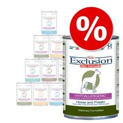 Exclusion Diet 12 x 400 g i blandet pakke - Hest, vildt og kanin