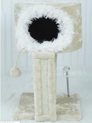 Faunakram kattehule med sisal udsigtspost + 2 stk. legetøj