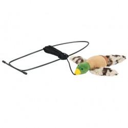 Flyvende fugl til dørkarmen - legetøj til katte
