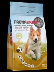 FRAGTSKADE - SÆKKE indhold helt ok!! - 12 kg FAUNAKRAM Komplet Super Premium kornfri
