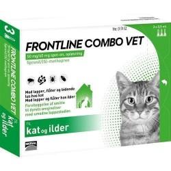 Frontline Combo loppemiddel til voksne katte, 3 stk