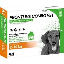 Frontline Combo til hunde 2-10 kg, BONUSPAKKE 6 STK