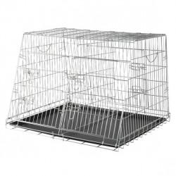 Galvaniseret transportbur til 1 eller 2 hunde.