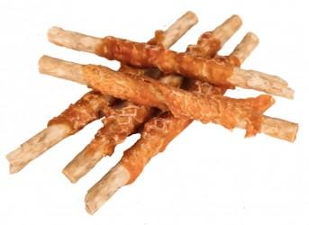 Glutenfrie Faunakram Munchy Sticks m. kylling, 80 gr. 7 stk., 12 cm lækker godbidsruller