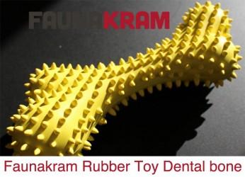 Gummi Toys, godt og solidt gummilegetøj, dental bone, str. 161 mm X 72 mm, color yellow