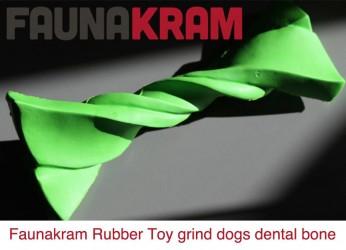 Gummi Toys, godt og solidt gummilegetøj, dental bone, str. 167 mm X 71 mm, color green
