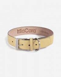 Halsbånd i læder (Sennepsgult) - Torino - Fl. størrelser, Medium