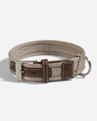 Halsbånd i nylon (Sand/Brun) - Riva - Fl. størrelser, Small