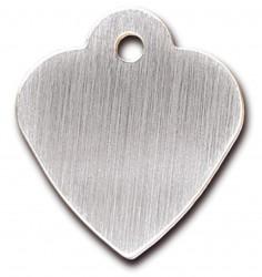 Heart small Brushed Chrome, hundetegn hjerte 29 mm