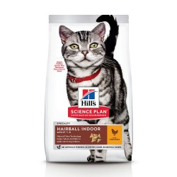 Hill's Science Plan Adult Hairball & Indoor Kylling - 10 kg