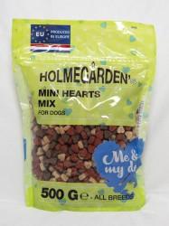 Holmegården, 500 g, dog mini hearts mix, zipper