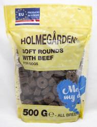 Holmegården Soft rounds, Dark Brown beef, 500 g