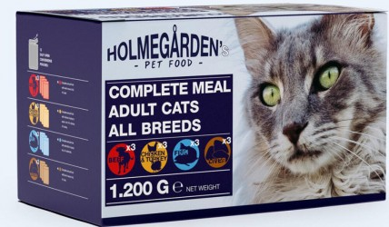Holmega%CC%8Arden menu pack 12 x 100 g, adult cat 4 flavour