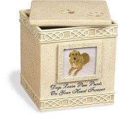 Hunde Urne, Dog Paw Prints Keepsake Box