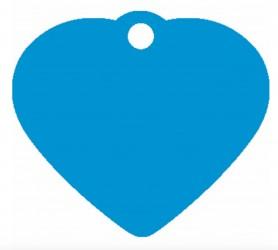 Hundetegn hjerte 38 mm - Blå Alu.