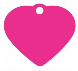 Hundetegn hjerte 38 mm - Pink Alu.