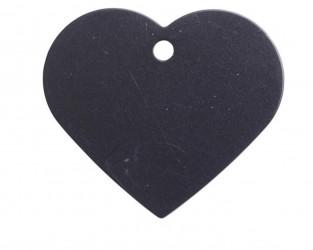 Hundetegn hjerte 39 mm - sort