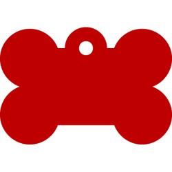 Hundetegn Kødben 39 mm - Rød Alu.
