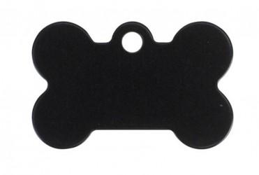 Hundetegn Kødben 39 mm - sort