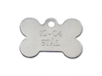 Hundetegn - Kødben i stål 28 x 19 mm