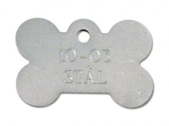 Hundetegn - Kødben i Stål 37 x 23 mm