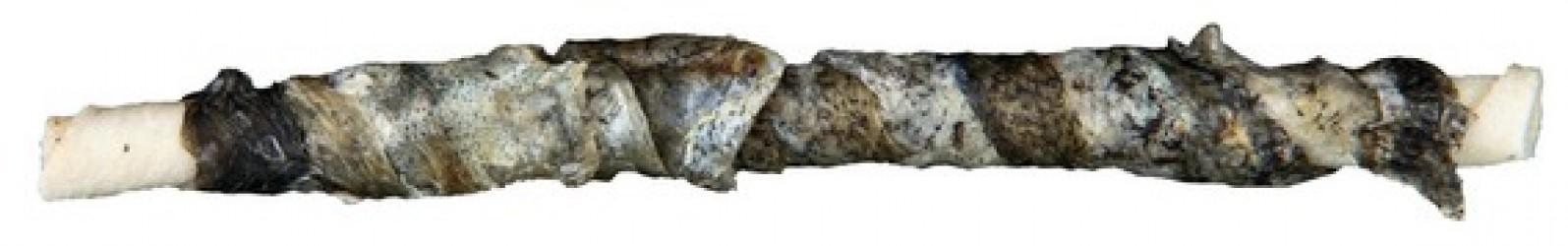 Hvide tyggeben omrullet med fisk