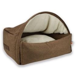 Hyggehule Sleepy Fox® brun - M: L 75 x B 85 x H 55 cm