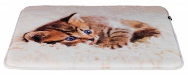 Hyggemåtte til katte med sødt print