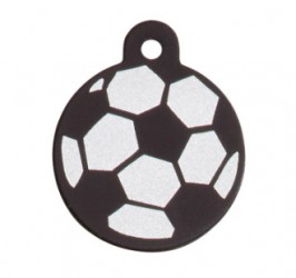 iMarc cirkel soccer ball, rund 39 mm - farve sort