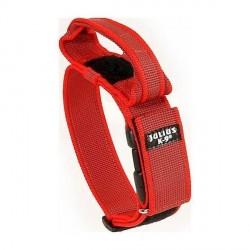 Julius K9 Super-grip Halsbånd m/håndtag, rød