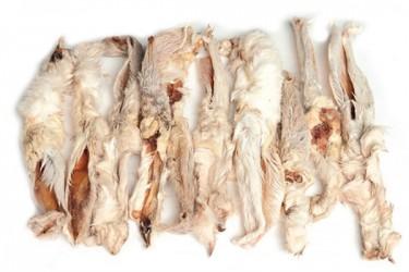 Kaninører med pels, 100g