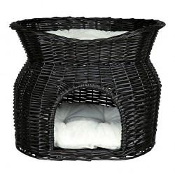 Kattehule med top i pileflet - sort luksusdesign