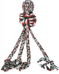 KONG Holiday Wubba Weaver w/rope, large