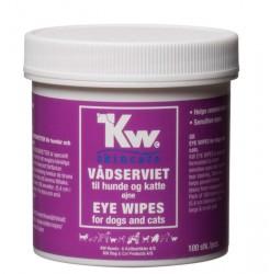 KW øjne vådserviet, 100 stk. - til sensitive øjne og tårestriber