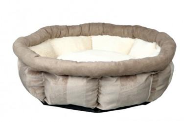 Leona seng, ø 45 cm i farve brun/creme