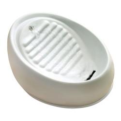 Lucky Kitty keramik drikkefontæne - Drikkefontæne, 1,5 liter / farve: grå