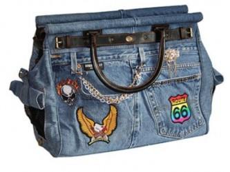 Luksus bæretaske, Design Rio Jeans 42 x 32 x 22 cm, Design Doggy Dolly - til den lille hund eller kat