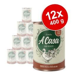 Lukullus A Casa 12 x 400 g hundefoder - Mix: 3 varianter