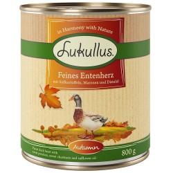 Lukullus Efterårsmenu: fine andehjerter (kornfri) - 24 x 800 g
