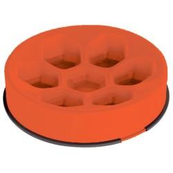 M-Pets madskål - Slow-feeding - Orange
