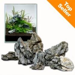 Minilandskab - Seiryu Rock - 60 cm sæt: 9 natursten, ca. 6 kg