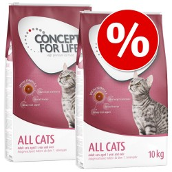 Økonomipakke: 2/3 store poser Concept for Life - Mum & Young Kittens (2 x 10 kg)